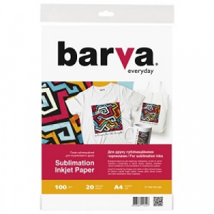 Сублимационная бумага A4, 20 листов BARVA (IP-TSE100-326)