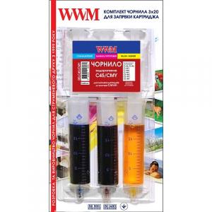 Заправочный набор для картриджа Canon CL-441 (3шт x 20мл) Color WWM (IR3.C45/CMY)