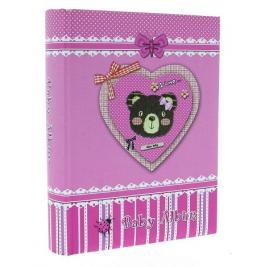 Фотоальбом детский 10X15 на 200 фото, для девочки KD46200 TEDDY BEAR