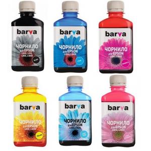 Чернила Barva для Epson L800, L805, L810, L850, L1800 комплект (6 х 180г)
