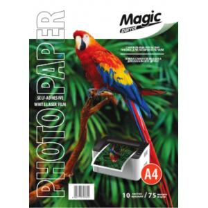 Плівка біла Magic А4 самоклеюча 75 мкм, 10арк для лазерного друку