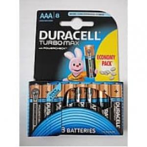 Батарейка Duracell TURBO MAX LR03 AAA, в упаковці 1x8шт.