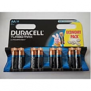 Батарейка Duracell TURBO MAX LR06 AA, 1x8шт.