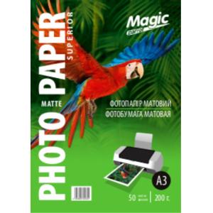 Фотопапір Мagic A3 матовий 200г/м, 50 аркушів