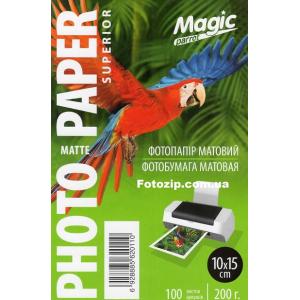 Фотобумага Мagic 10х15 матовая, 200g, 100 листов