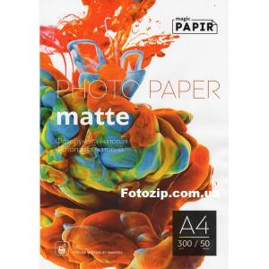 Матовая фотобумага PAPIR A4 300 г/м, 50 листов