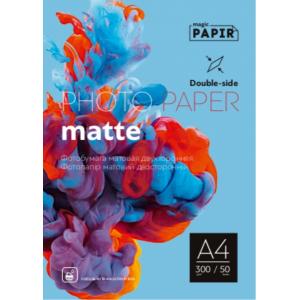 Двухсторонняя матовая фотобумага PAPIR A4 300 г/м, 50 листов