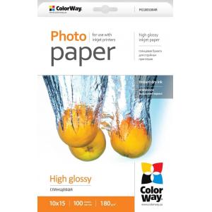 фотобумага colorway глянцевая 180г/м, 10x15, 100л. карт. упаковка ColorWay PG1801004R