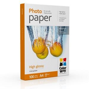 Фотобумага Colorway глянцевая 260г/м, A4 100л (PG260100A4)