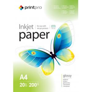 фотобумага printpro глянец 200г/м, a4, 20л, pg200-20 Print Pro PGE200020A4