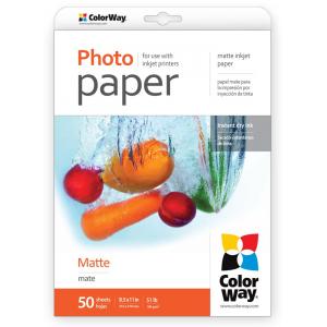Фотобумага ColorWay матовая 190 г/м², Letter, 50 л. (PM190050LT)