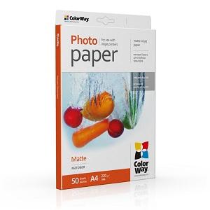 Фотобумага Colorway матовая 220г/м, A4 (PM220050A4)
