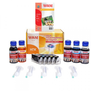 ПЗК для Canon MG5140, MG5240, MG5340, MX714, MX884, MX894, iP4840, iP4940, iX6540 с АО чипами, чернилами