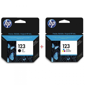 Картриджи струйные HP 123 комплект Black, Color (F6V17AE, F6V16AE)
