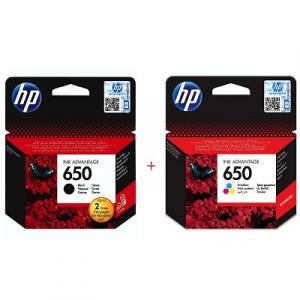 Картриджи струйные HP 650 комплект Black (CZ101AE), Color (CZ102AE)