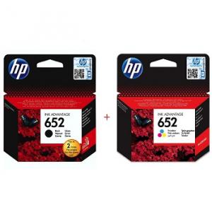 Картриджи струйные HP 652 комплект Black (F6V25AE), Color (F6V24AE)
