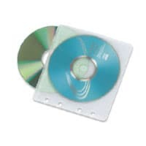 конверт пластиковый на 2 cd с перфорацией  (100 шт)  5645386