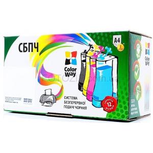снпч cw epson xp313, 323, 413, 423  battery+чернила (4х100мл) v2 ColorWay XP413CC-4.1B