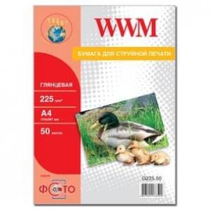 фотобумага wwm, глянцевая 225g, m2, a4, 50л (g225.50) WWM G225.50