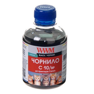 чернила wwm canon pg510, 512, pgi520bk, pgi425pgbk (black pigment) c10/bp, 200г WWM C10/BP