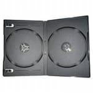 бокс для 2-dvd диска 9мм черный глянец, 100шт DVD BOX dvd2box9-100