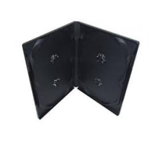 бокс для 4-dvd диска 14мм черный глянец DVD BOX dvd4box14