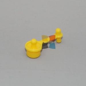 рез. 2ная пробка для емкости с чернилами yellow бо ColorWay PR2EYBO