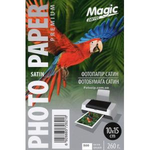 Фотобумага сатиновая полуглянцевая Мagic 10х15, 260 г/м, 500 листов