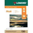 Фотобумага Lomond матовая 120 г/м, А3 100лис. Код 0102162