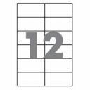 Самоклеющаяся бумага формата А4 разделенная на 12 этикетки размером 105х48мм, 100шт