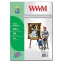 Холст WWM натуральный хлопковый Fine Art, 260g, m2, A3, 20л (CC260A3.20)