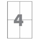 Самоклеющаяся бумага формата А4 разделенная на 4 этикетки размером 105х148мм, 100шт