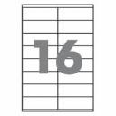 Самоклеющаяся бумага формата А4 разделенная на 16 этикетки размером 105х148мм, 100шт