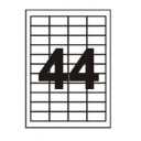 Самоклеющаяся бумага формата А4 разделенная на 44 этикетки размером 48,3х25,4 мм, 100шт
