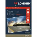 Фотобумага Lomond 270 г/м, Bright суперглянцевая, А4, 20лис. Код 1106100