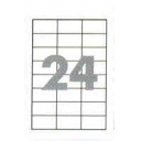 Самоклеющаяся бумага формата А4 разделенная на 24 этикетки размером 70х37,1мм, 100шт