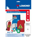 Самоклеящиеся пленки LOMOND для лазерной печати (прозрачная) А4, 10лис. Код 1703411