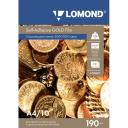 Самоклеящаяся плёнка Lomond для лазерной печати, золотая, A4, 10л, 1703471