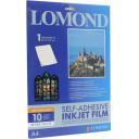 Самоклеящиеся пленки LOMOND для струйной печати, (белая), А4, 10лис. Код 1708461
