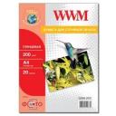 Фотопапір WWM, глянцевий 200g, m2, A4, 20л (G200.20)