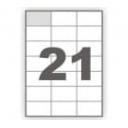Бумага самоклеящаяся А4, деленная на 21, 100 листов