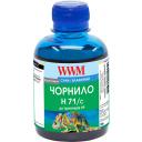 Чорнило WWM для HP №711 200г Cyan Водорозчинні (H71 / C)