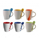 Чашки для сублимации цветная внутри ручка и ложка, Premium 36 шт