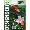Дизайнерская фотобумага Мagic А4, двухсторонняя Зеленый Перламутр  250 г /м²,50л