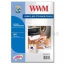 Самоклеящаяся бумага WWM для струйной печати, матовая 100 g, m2,  А4,  20л