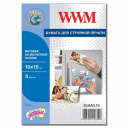 Фотобумага WWM, матовая Magnetic, 100х150 мм, 5л (M.MAG.F5)