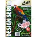 Дизайнерская фотобумага Мagic А4, двухсторонняя Платиновый Перламутр  250 г /м²,50л