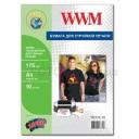 Термотрансфер WWM для струйной печати для темных тканей, 175g, m2, A4, 10л (TD175.10)