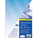 Обложка для переплета, А4, пластик 180 мкм, синяя, 50 шт. BUROMAX (BM.0560-02)