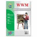 Холст полиэстерный А4 для печати на принтере WWM, 200г/м (CP200A4.10)